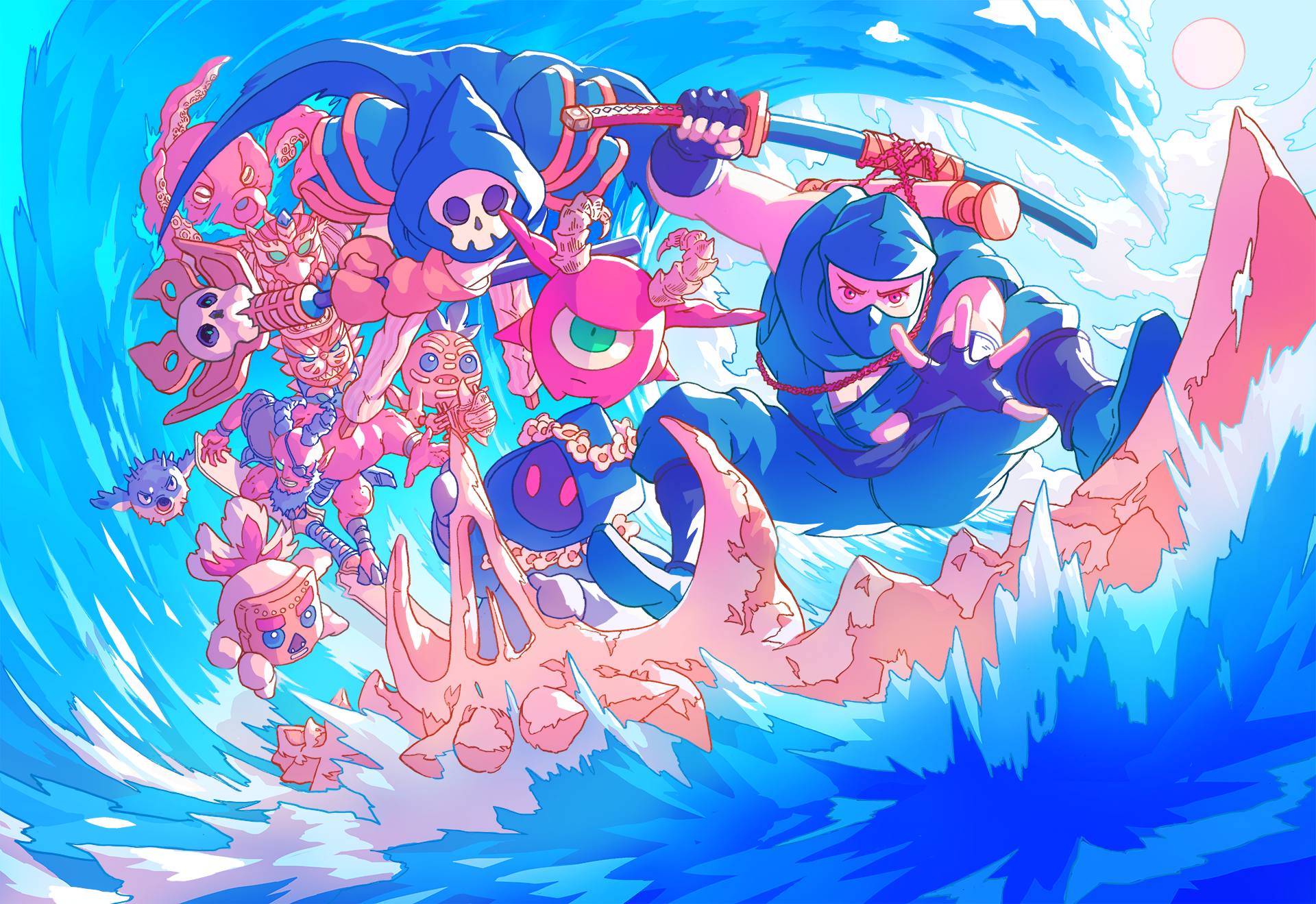 The Messenger – Picnic Panic Free DLC is now available on PS4, Switch and PC!