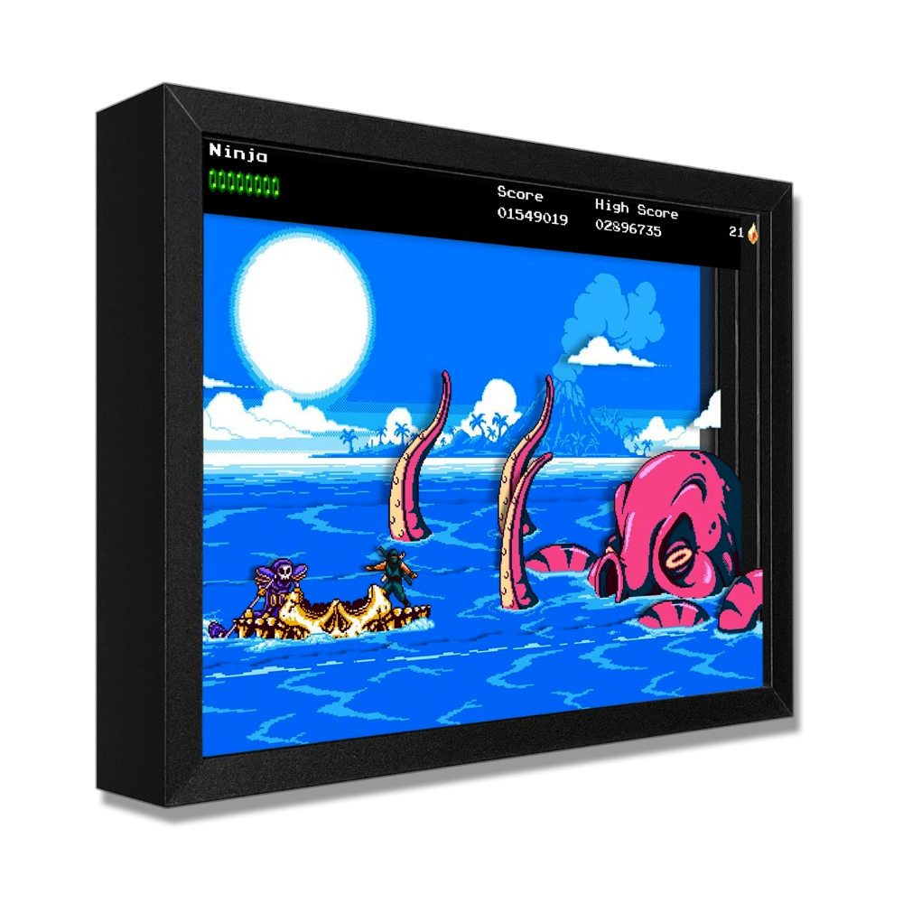 The Messenger Picnic Panic Shadowbox Art - $129.00 USD